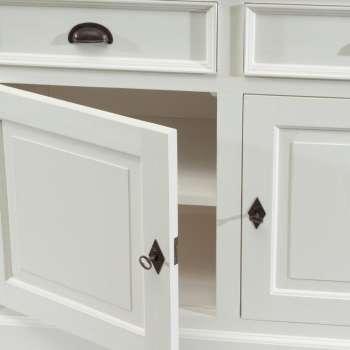 Kommode Brighton 180x55x95cm white&natural grey