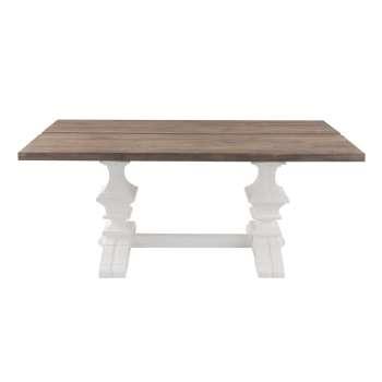 Stół Chester 180x90x78cm white&natural grey