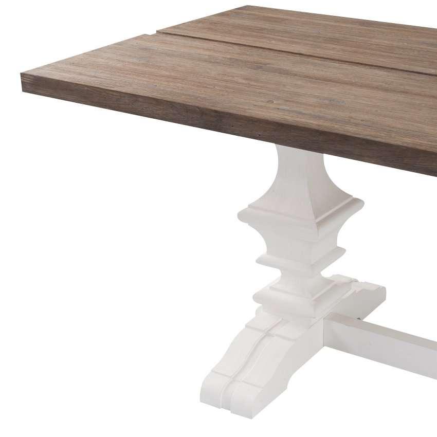 Tisch Chester 180x90x78cm white&natural grey 180x90x78cm