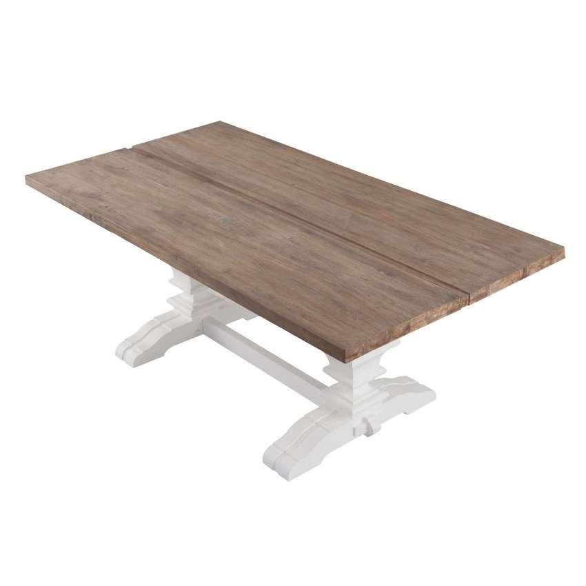 Stół Chester 200x100x78cm white&natural grey 200x100x78cm