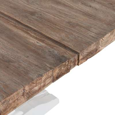 Tisch Chester 200x100x78cm white&natural grey