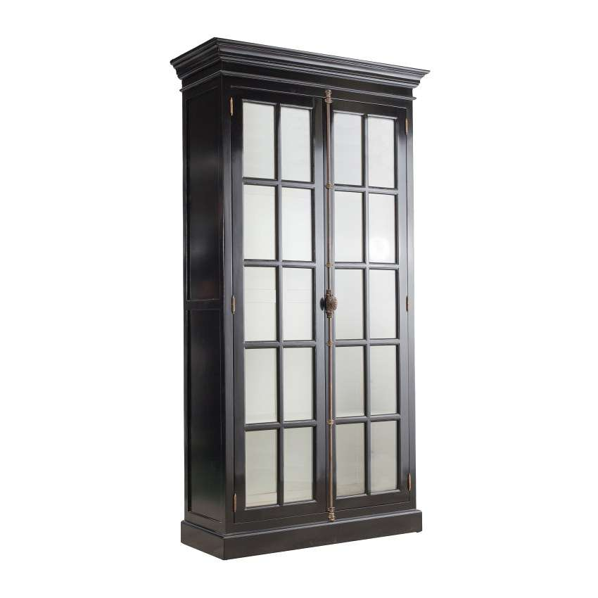 Vitrinenschrank Josephine 110x45x210cm black