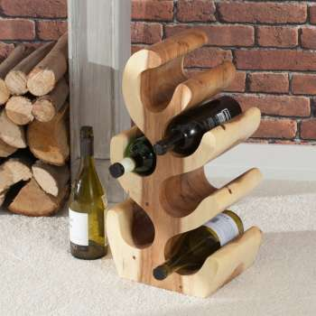 Stojak na wino Depok 49,5cm natural