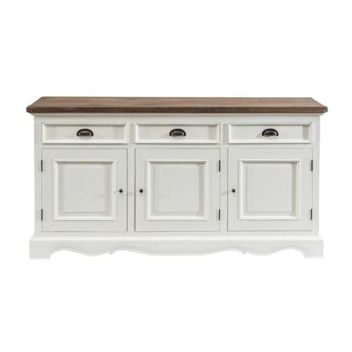 Kommode Brighton Brighton 3 Türen + 3 Schubladen white&natural, 160x40x87cm