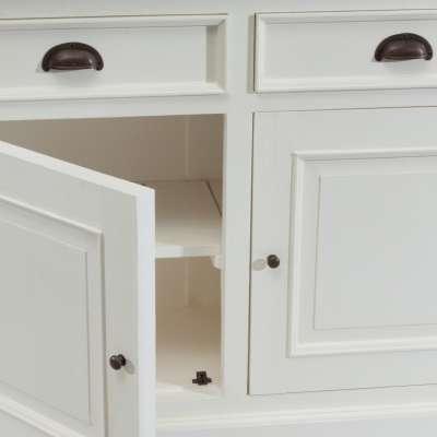 Komoda Brighton 3 drzwi + 3 szuflady white&natural