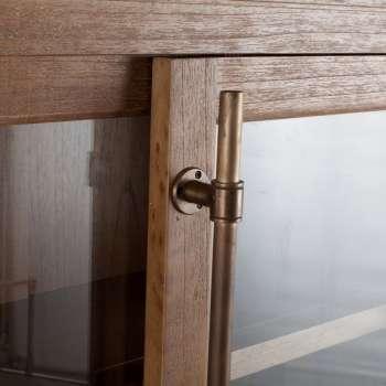 Vitrine Chantal 2 Schubladen 124x46x210cm  124x46x210cm