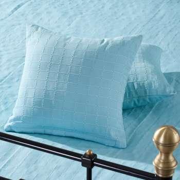 Schlafzimmer Set Milena turquoise 180x250cm Plaid + 2 Kissenhüllen ...