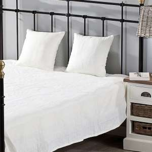 Schlafzimmer Set Milena white 180x250cm Plaid + 2 Kissenhüllen 180x250cm