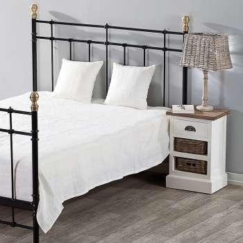 Schlafzimmer Set Milena white 180x250cm Plaid + 2 Kissenhüllen