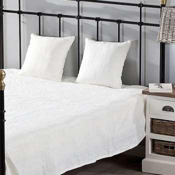 Schlafzimmer Set  Milena white 260x250cm Plaid + 2 Kissenhüllen