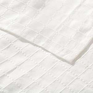 Lovatiesės komplektas Milena baltos spalvos 260x250cm lovatiesė + 2 pagalvėlių užvalkalai 260x250cm