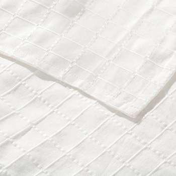 Komplet Milena white 260x260cm pled + 2 poszewki 260x260cm