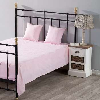 Schlafzimmer Set Milena pink rosa 150x250cm Plaid + 2 Kissenhüllen
