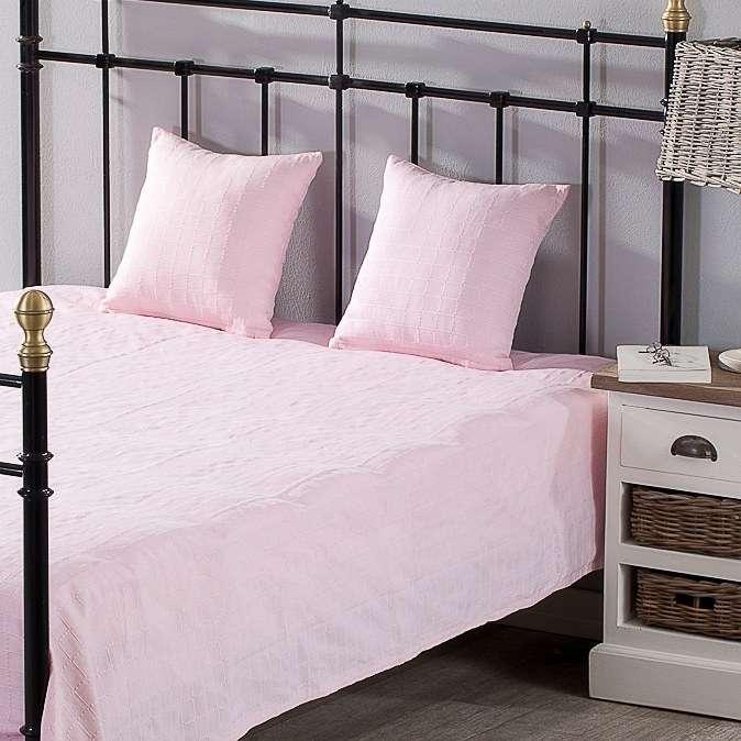 Slaapkamerset Milena pink rosa 180x250cm sprei + 2 kussenslopen