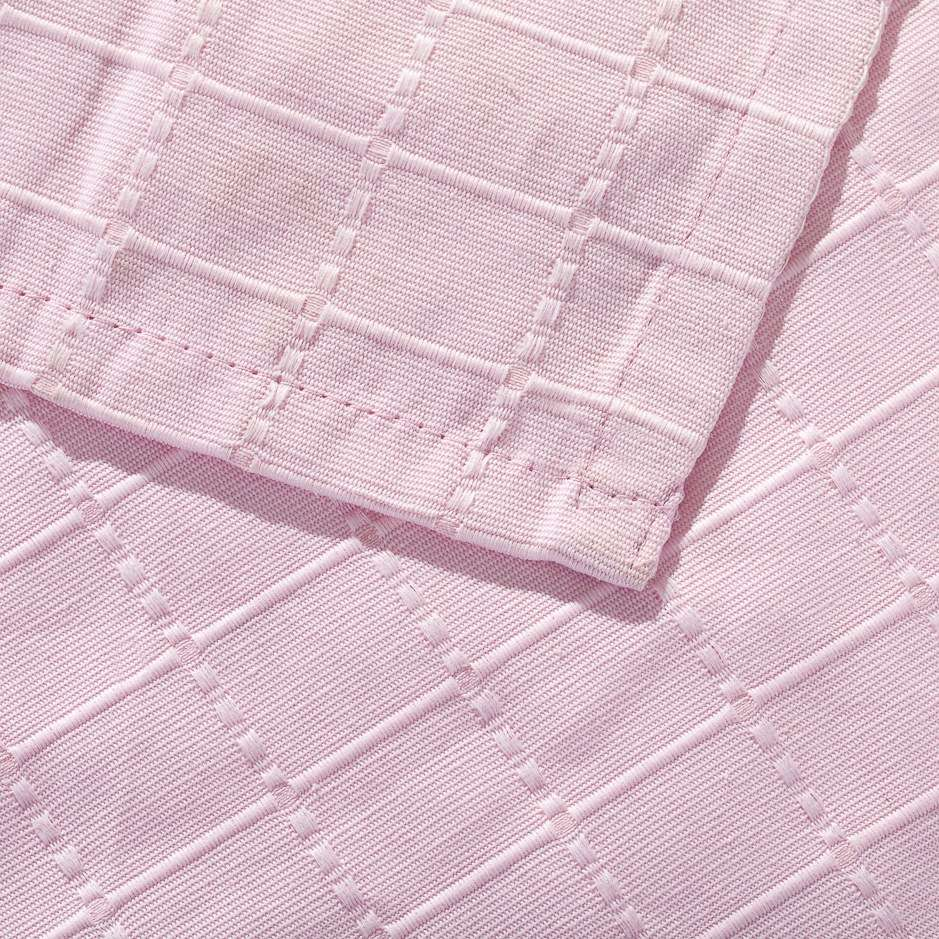 Komplet Milena pink rosa 260x260cm pled + 2 poszewki 260x260cm