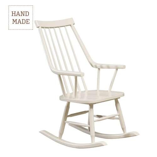 Fotel bujany Henry white
