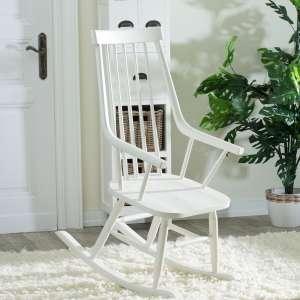 Fotel bujany Henry white 54x44x114cm