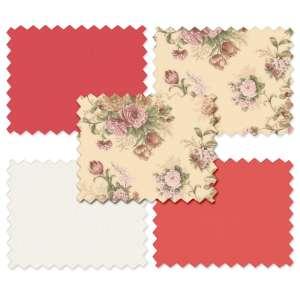 Zestaw tkanin 40x30cm 10 szt. Flowers 01 40x30