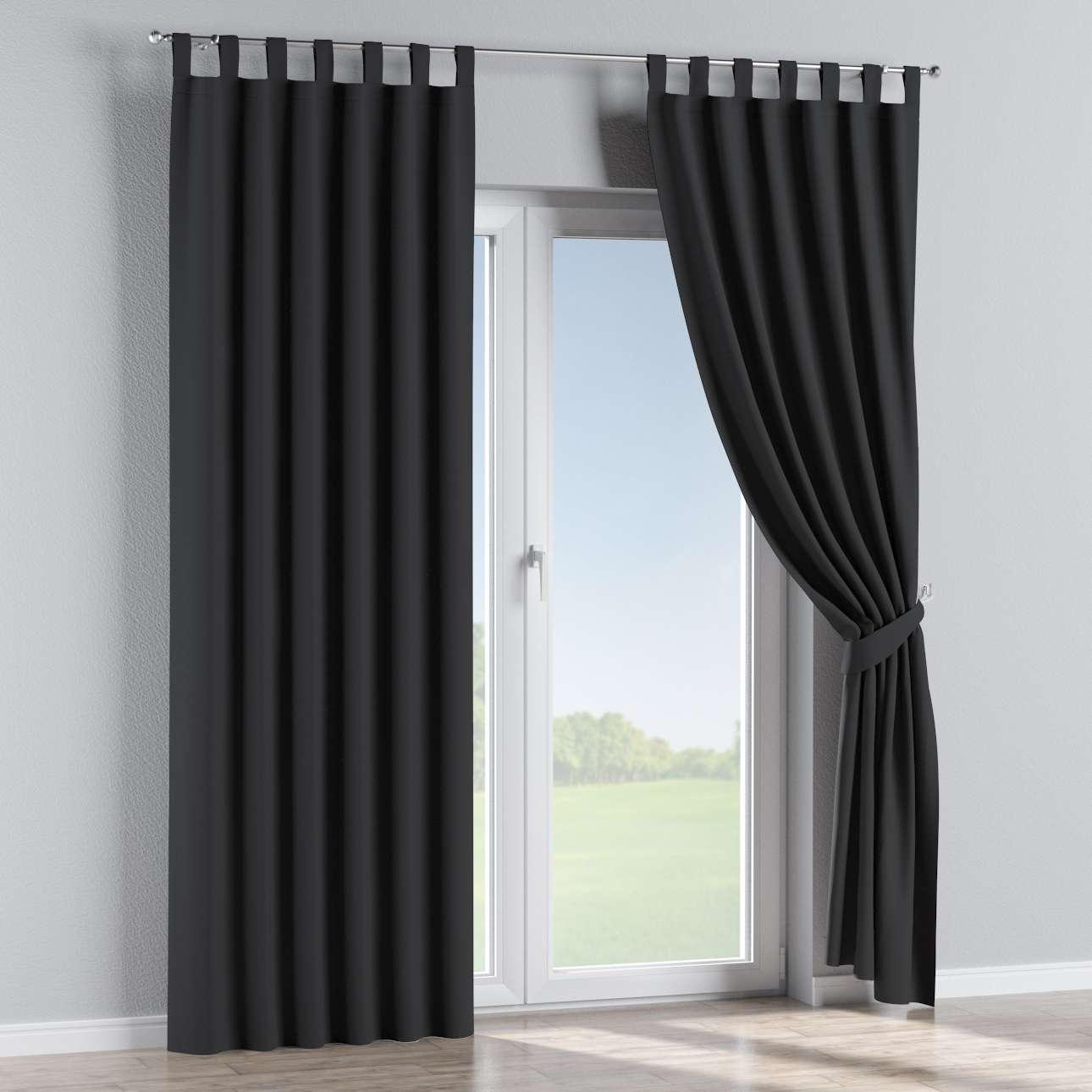 verdunklungsvorhang mit schlaufen schwarz dekoria. Black Bedroom Furniture Sets. Home Design Ideas