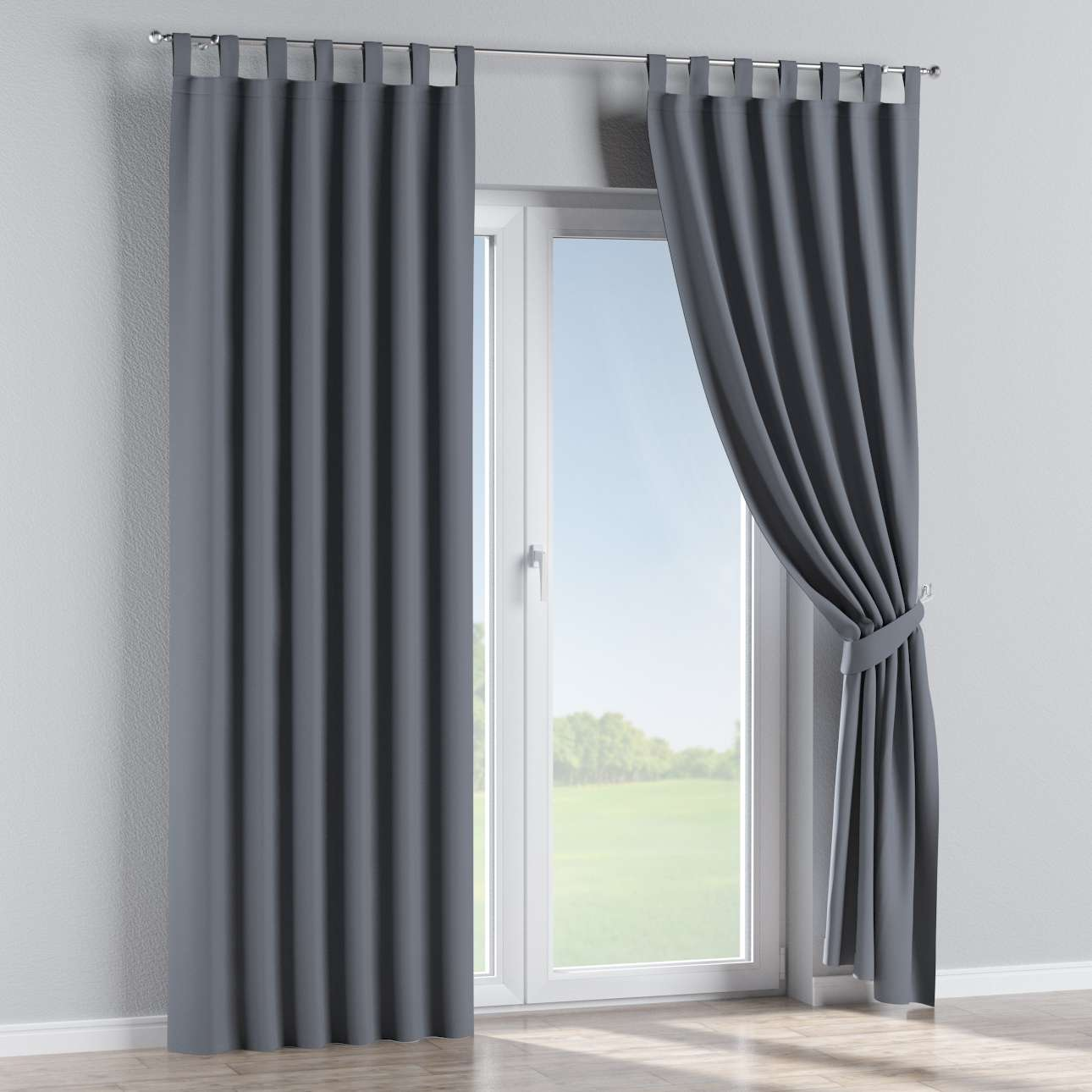 Blackout tab top curtains in collection Blackout, fabric: 269-76