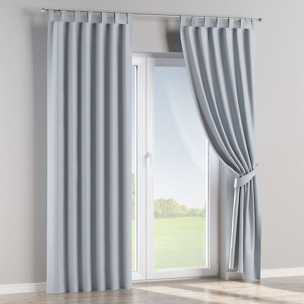 verdunklungsvorhang mit schlaufen pastellblau dekoria. Black Bedroom Furniture Sets. Home Design Ideas