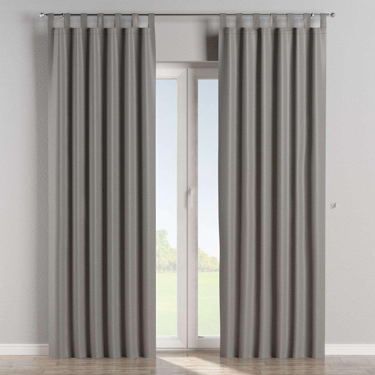 verdunklungsvorhang mit schlaufen dunkelgrau dekoria. Black Bedroom Furniture Sets. Home Design Ideas