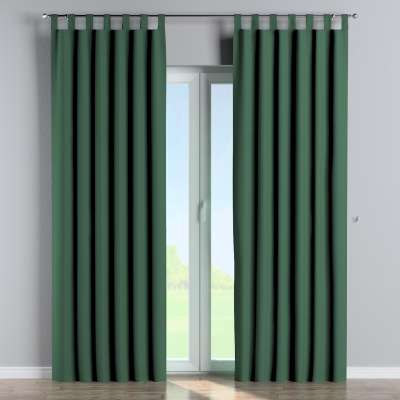 Blackout tab top curtain 269-18 bottle green Collection Blackout
