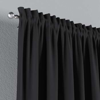 Blackout slot and frill curtains 140 x 260 cm (approx. 55 x 102 inch) in collection Blackout, fabric: 269-99