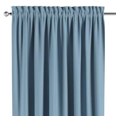 Blackout slot and frill curtain 269-08 sky blue Collection Blackout