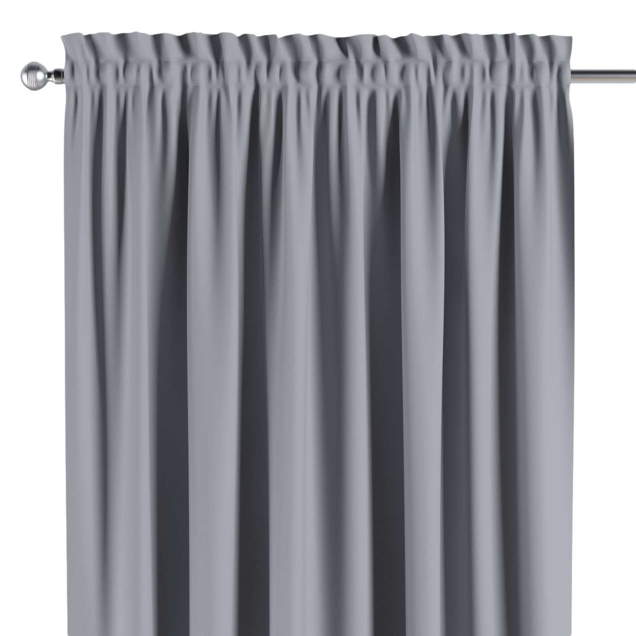 Blackout slot and frill curtains 140 × 260 cm (approx. 55 × 102 inch) in collection Blackout, fabric: 269-96