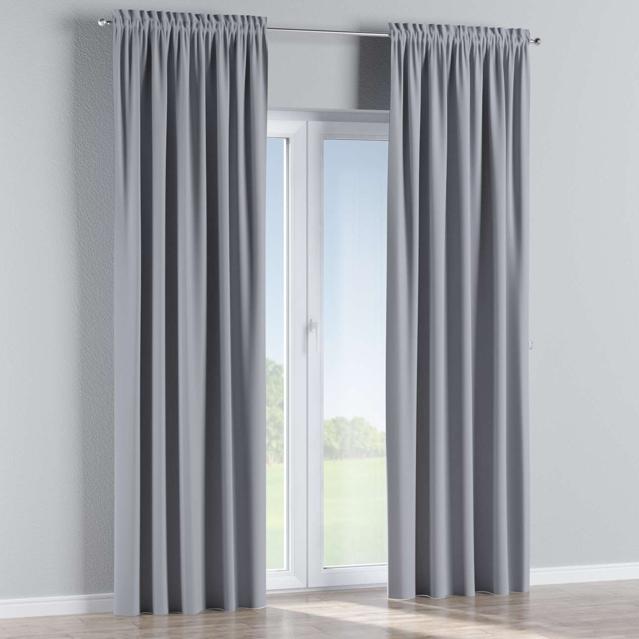 Blackout slot and frill curtains 140 x 260 cm (approx. 55 x 102 inch) in collection Blackout, fabric: 269-96