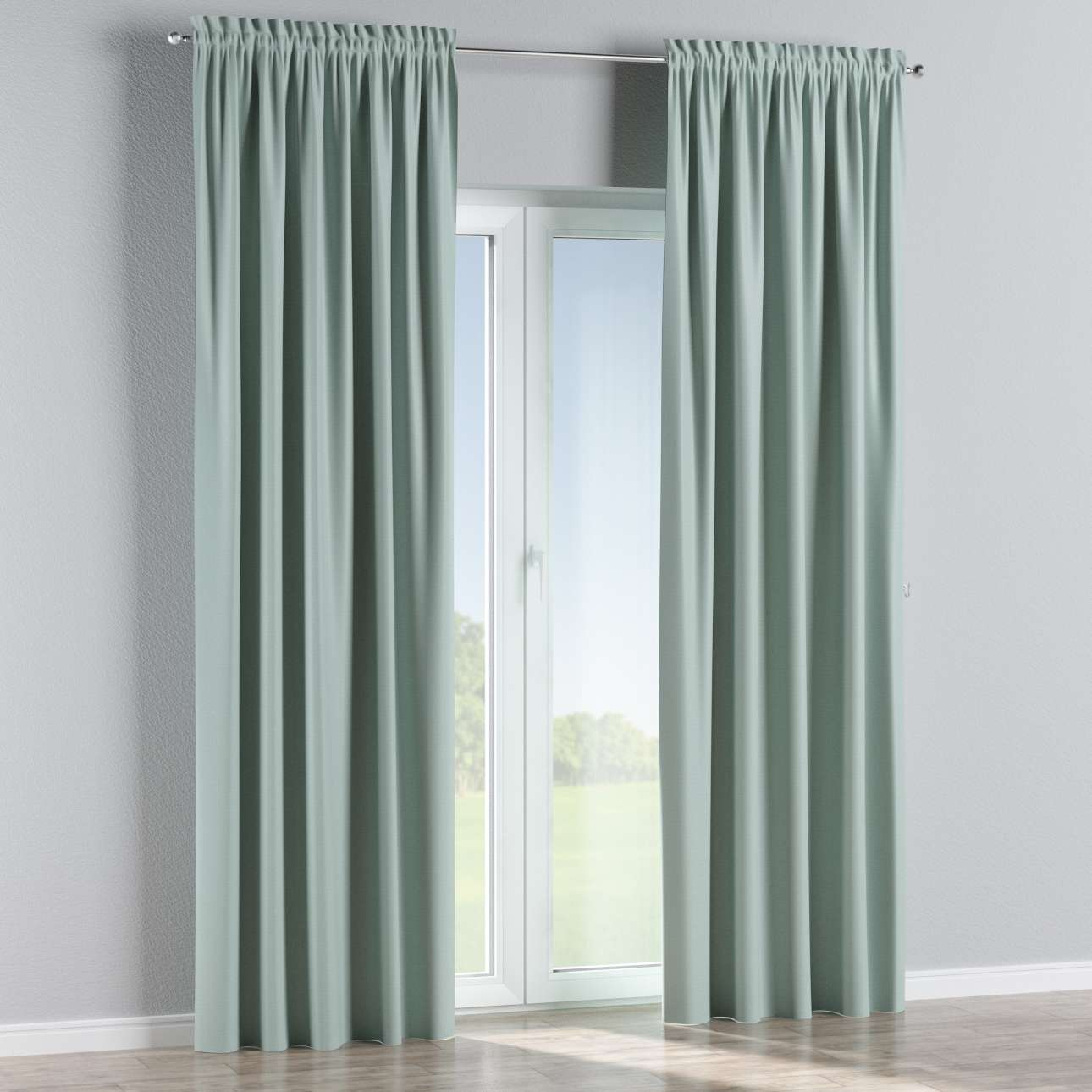 Blackout slot and frill curtains 140 x 260 cm (approx. 55 x 102 inch) in collection Blackout, fabric: 269-61