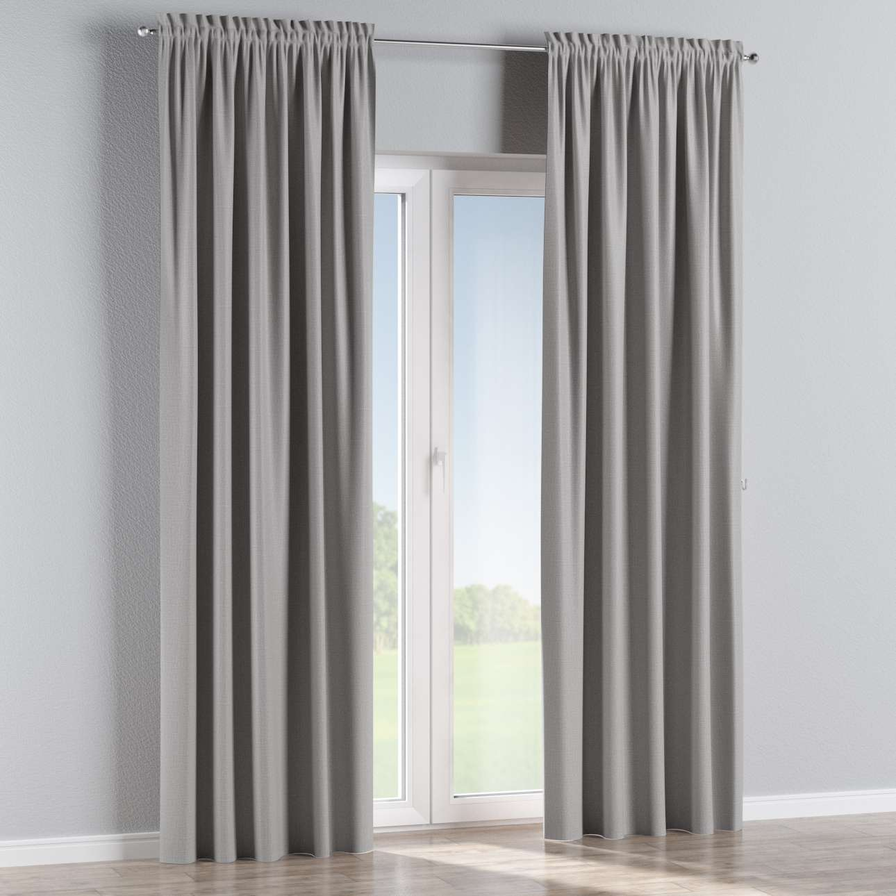 Blackout slot and frill curtains 140 x 260 cm (approx. 55 x 102 inch) in collection Blackout, fabric: 269-64