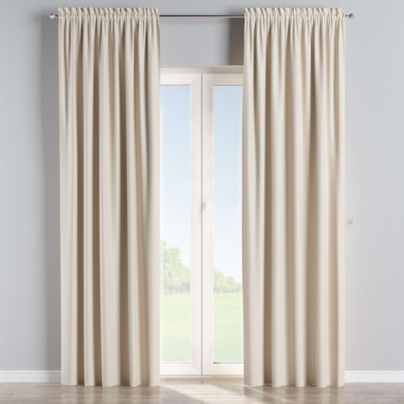 Blackout slot and frill curtains 140 × 260 cm (approx. 55 × 102 inch) in collection Blackout, fabric: 269-66