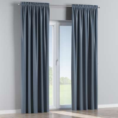 Blackout slot and frill curtain 269-67 dark blue Collection Blackout