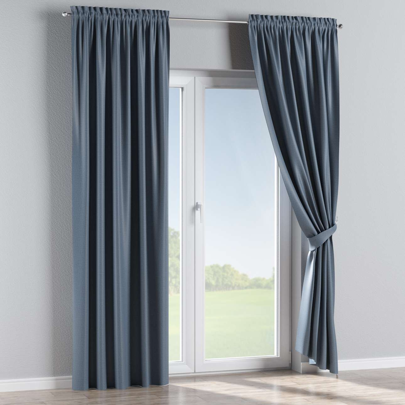 Blackout slot and frill curtains 140 x 260 cm (approx. 55 x 102 inch) in collection Blackout, fabric: 269-67