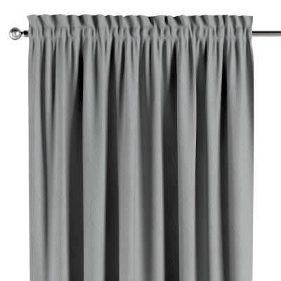 Blackout slot and frill curtain 269-19 geometric pattern on a gray background Collection Blackout