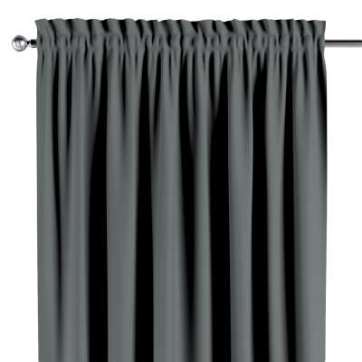 Blackout slot and frill curtain 269-07 dark grey Collection Blackout 280