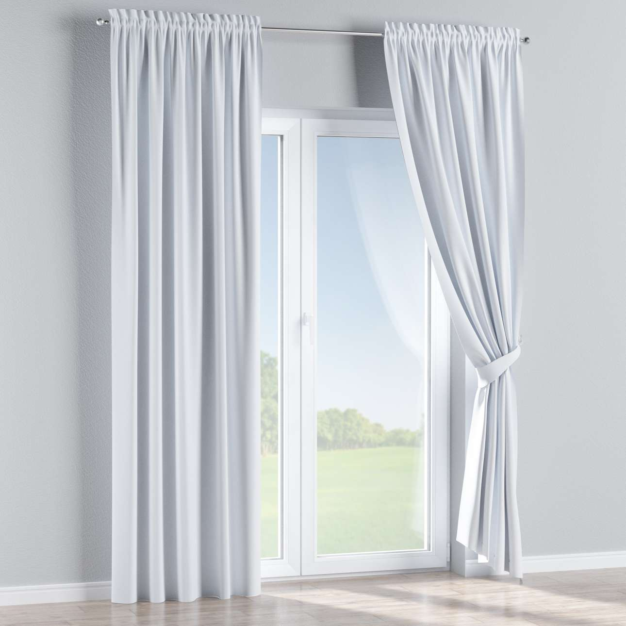 Blackout slot and frill curtains 140 × 260 cm (approx. 55 × 102 inch) in collection Blackout, fabric: 269-01