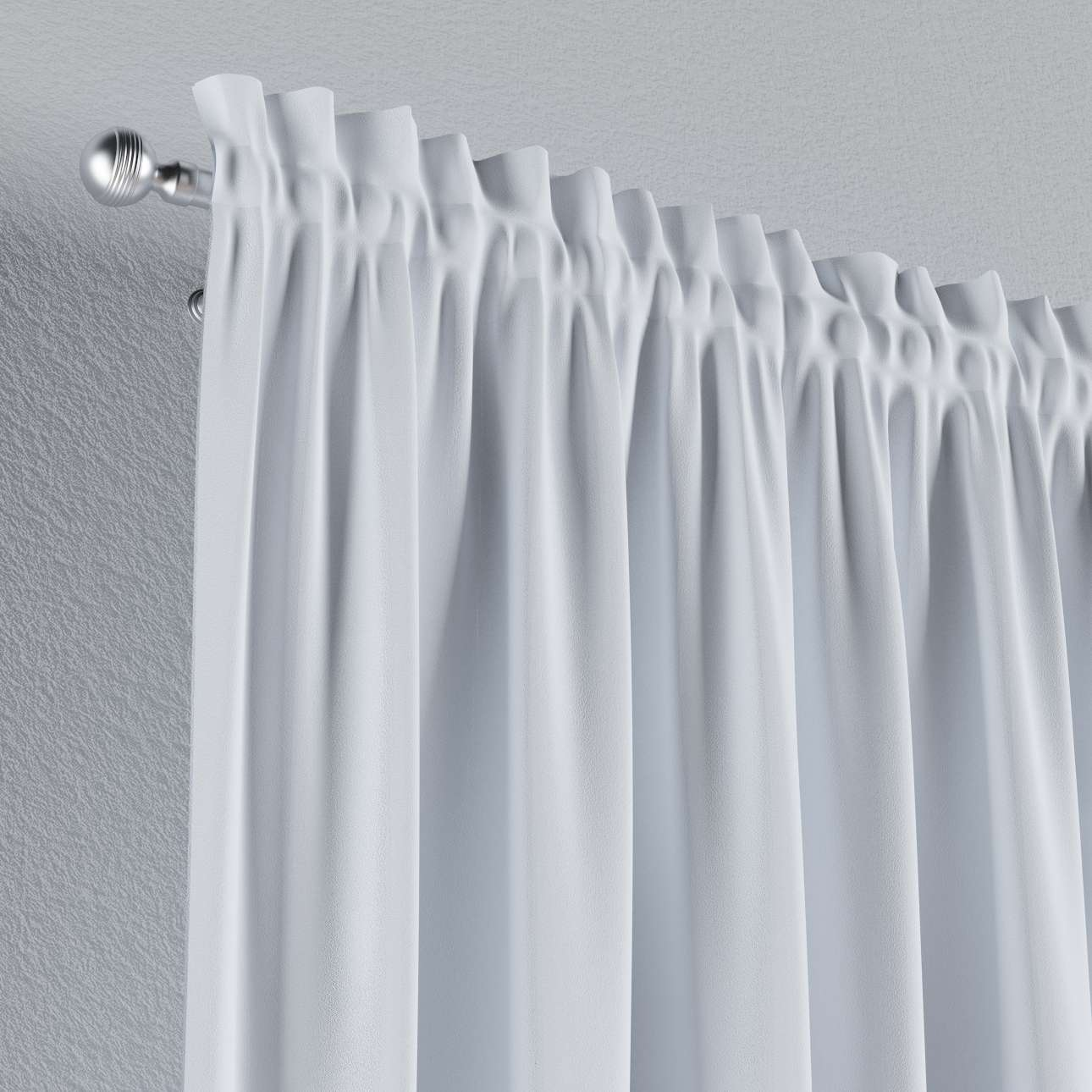 Blackout slot and frill curtains 140 x 260 cm (approx. 55 x 102 inch) in collection Blackout, fabric: 269-01