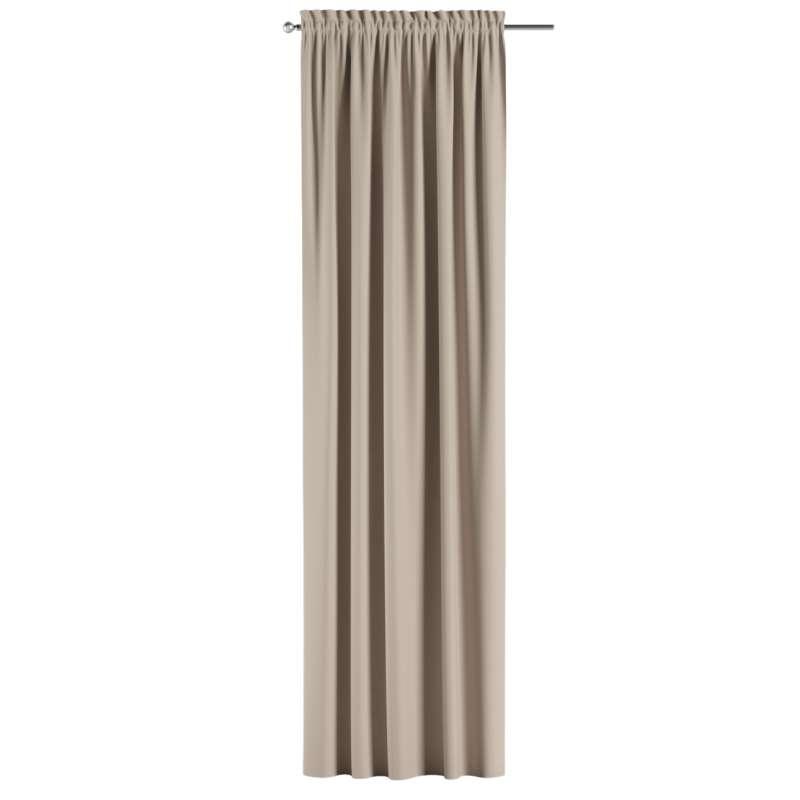 Zatemňujúci záves s navliekacou riasiacou páskou V kolekcii Blackout - zatemňujúca, tkanina: 269-00