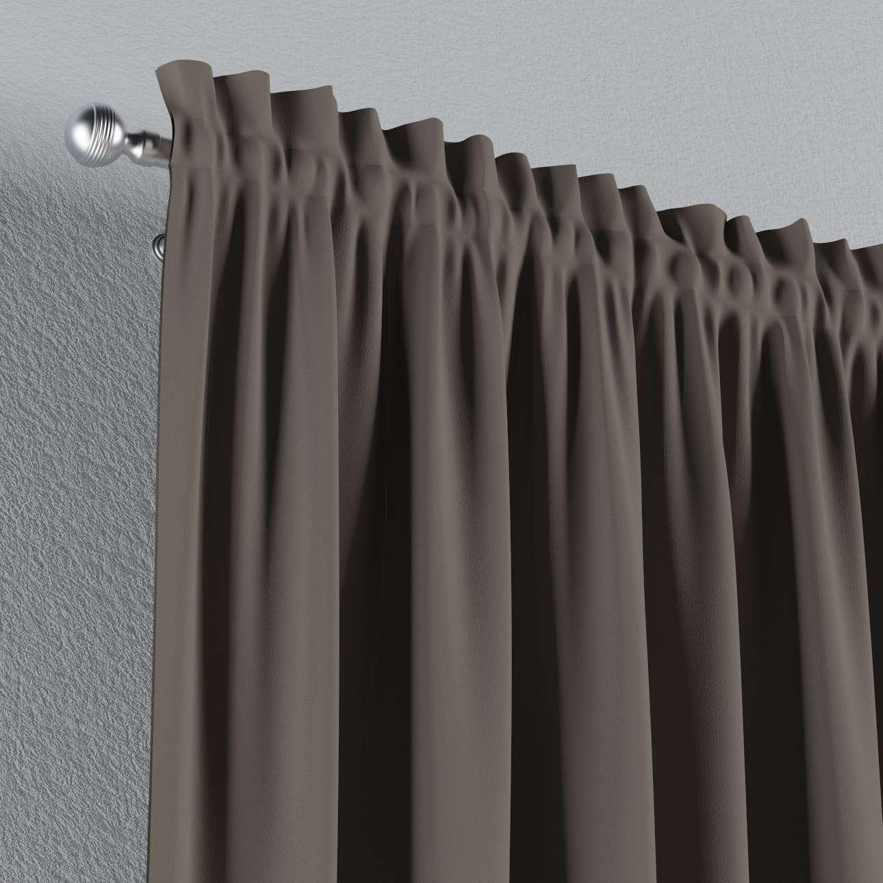 Zatemňujúci záves s navliekacou riasiacou páskou V kolekcii Blackout - zatemňujúca, tkanina: 269-80