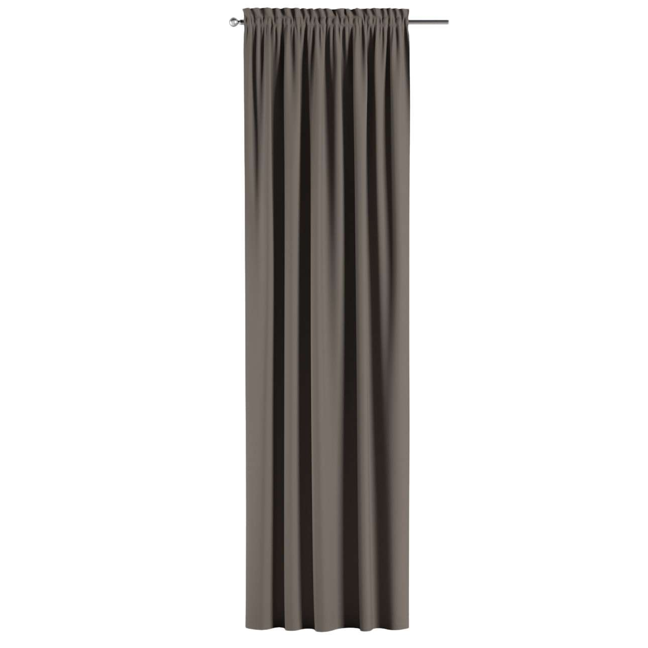 Blackout slot and frill curtains 140 x 260 cm (approx. 55 x 102 inch) in collection Blackout, fabric: 269-80