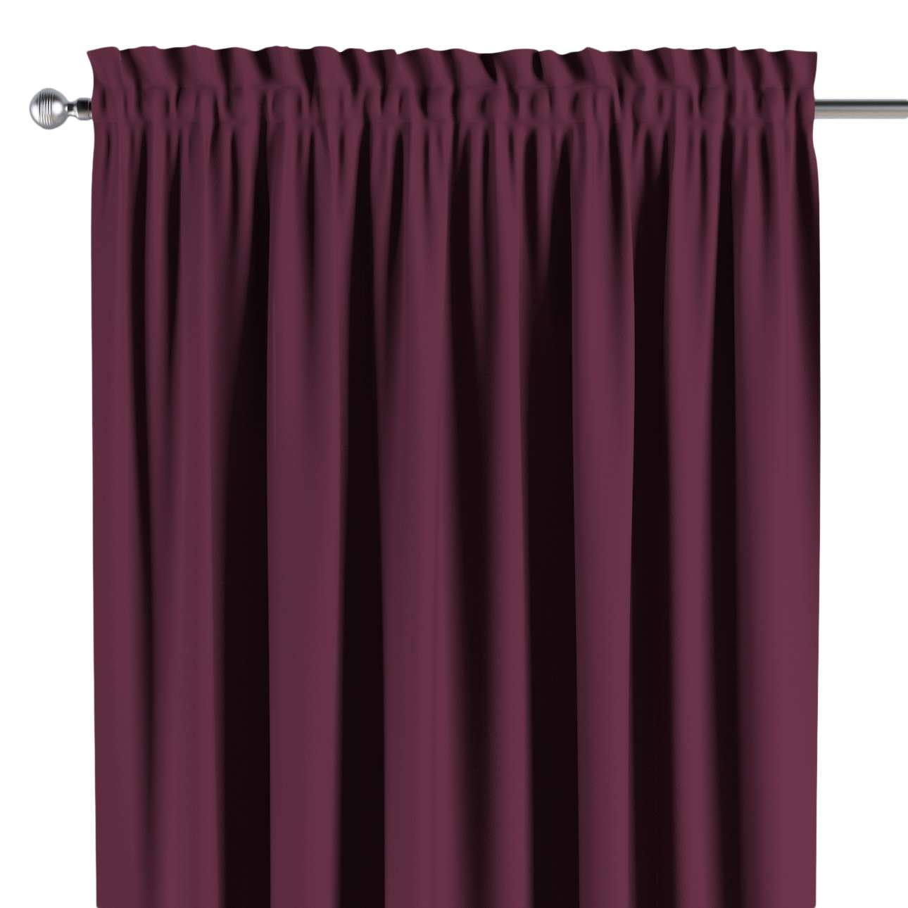 Blackout slot and frill curtains 140 × 260 cm (approx. 55 × 102 inch) in collection Blackout, fabric: 269-53