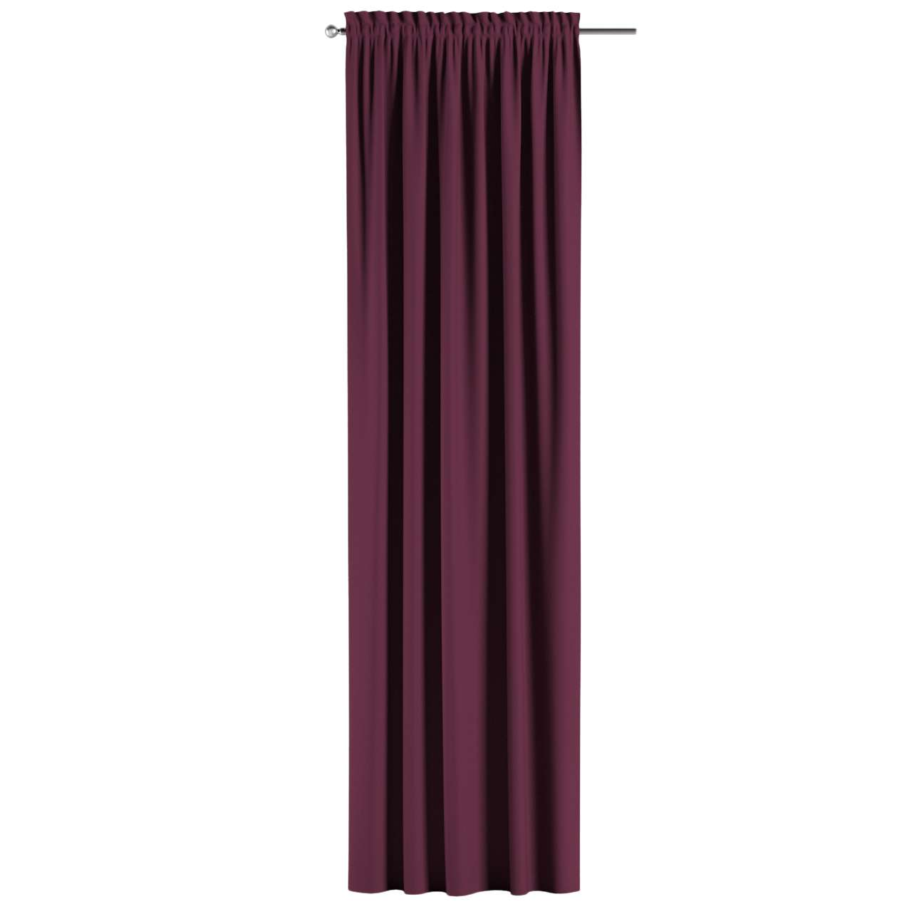 Blackout slot and frill curtains 140 x 260 cm (approx. 55 x 102 inch) in collection Blackout, fabric: 269-53