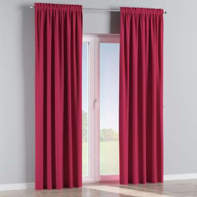 Blackout slot and frill curtain 269-51 burgundy Collection Blackout
