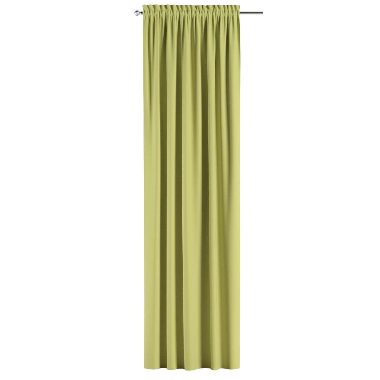 Blackout slot and frill curtains 140 x 260 cm (approx. 55 x 102 inch) in collection Blackout, fabric: 269-17
