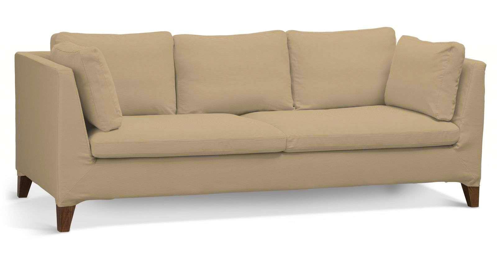Pokrowiec na sofę Stockholm 3-osobową sofa Stockholm 3-osobowa w kolekcji Cotton Panama, tkanina: 702-01