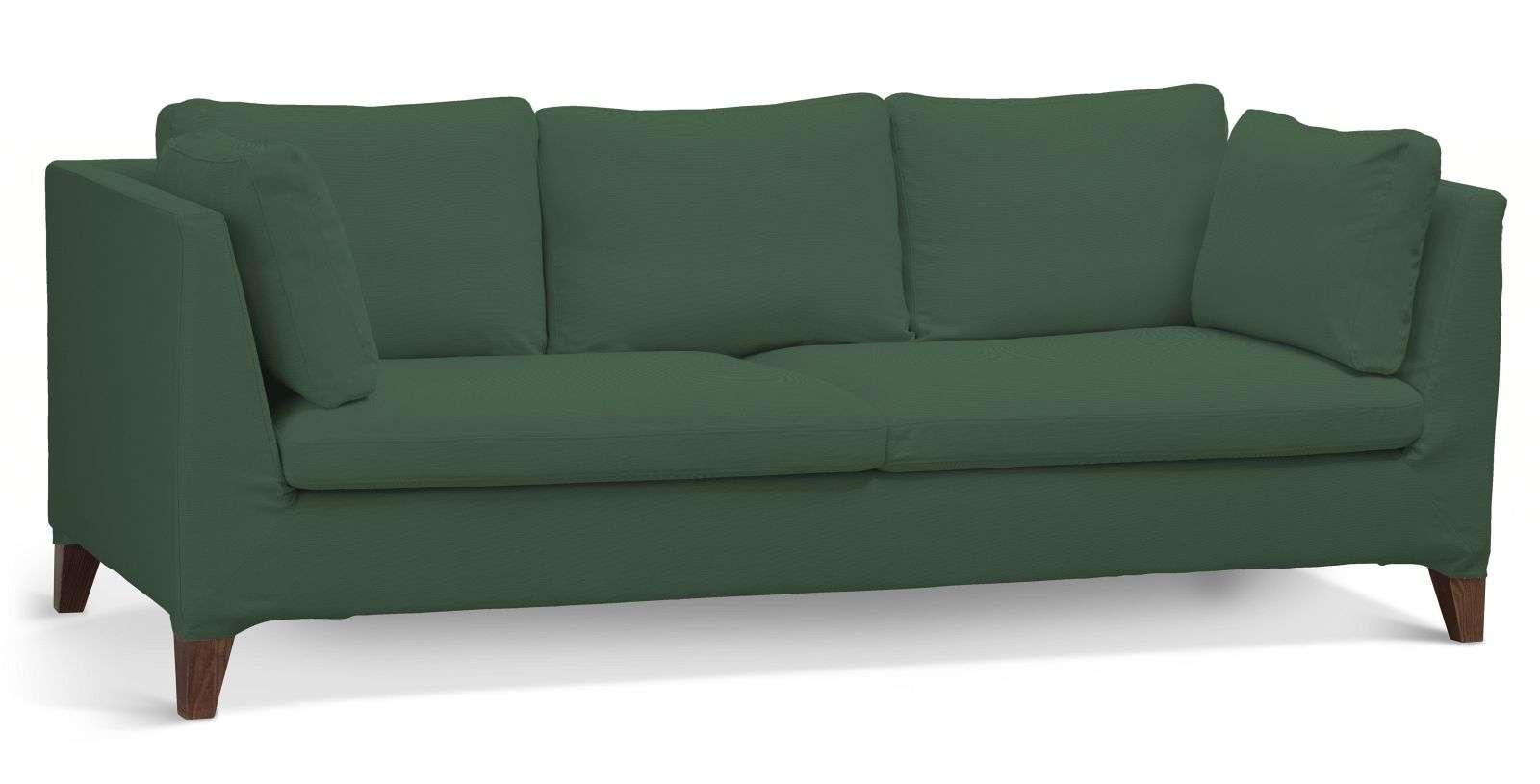 Pokrowiec na sofę Stockholm 3-osobową w kolekcji Cotton Panama, tkanina: 702-06