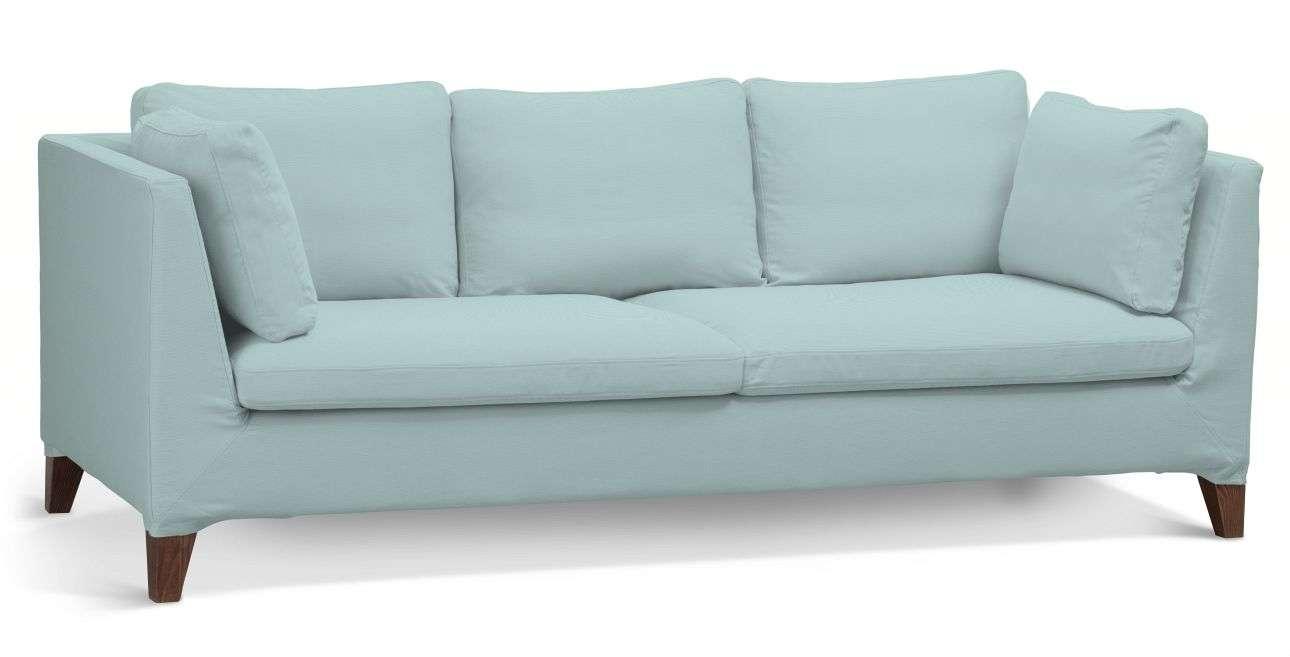 Pokrowiec na sofę Stockholm 3-osobową w kolekcji Cotton Panama, tkanina: 702-10